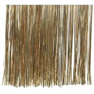 10x zakjes camel bruine kerstboom versiering lametta haar