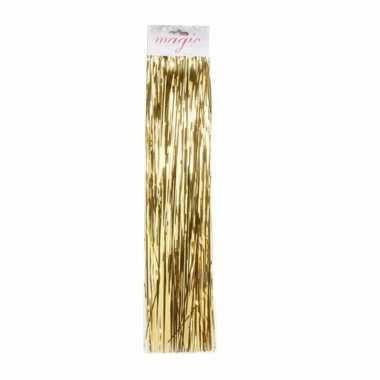 10x zakjes gouden lametta engelenhaar 50 cm kerstboomversiering