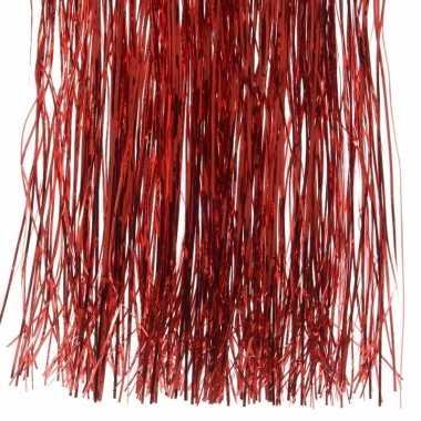 2x kerstversiering folie engelenhaar rood