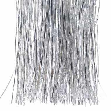 3x kerstversiering folie engelenhaar zilver