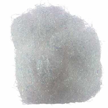 4x zakjes kerstdecoratie engelenhaar wit 20 gram