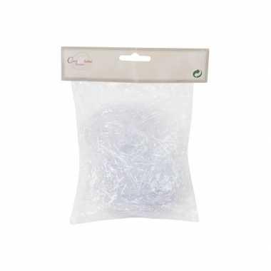 6x zakjes witte kerstdecoratie engelenhaar 20 gram