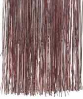 10x zakjes oud roze kerstboom versiering lametta haar
