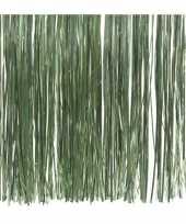10x zakjes salie groene kerstboom versiering lametta haar