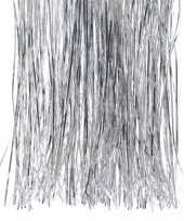 2x kerstversiering folie engelenhaar zilver 10240603