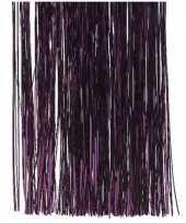 4x aubergine paarse kerstboom versiering lametta slierten