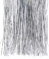 4x kerstversiering folie engelenhaar zilver