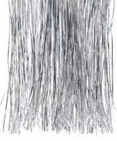 6x kerstversiering folie engelenhaar zilver