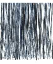 6x zakjes lichtblauwe kerstboom versiering lametta haar