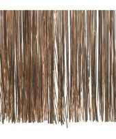 6x zakjes zacht terra bruine kerstboom versiering lametta haar